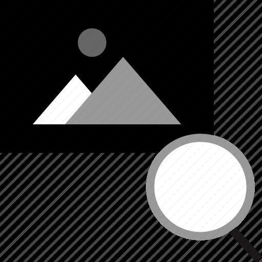 find, photo, picture, search icon