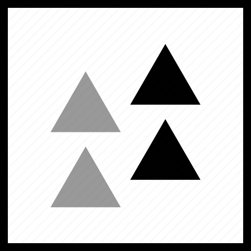 abstract, create, four, triangles icon