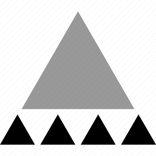 creative, five, pyramid, triangles icon