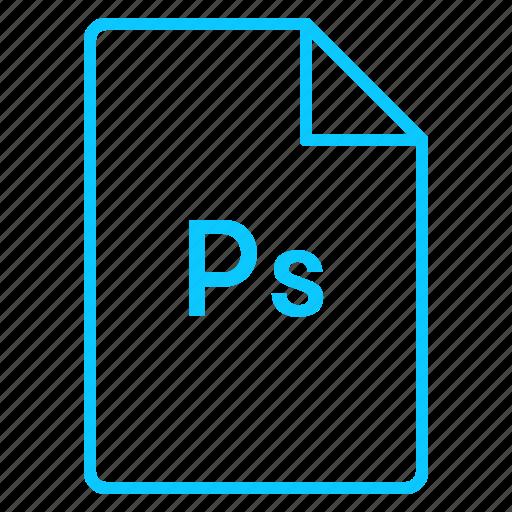 adobe, cc, coloured, file, outline, photoshop icon