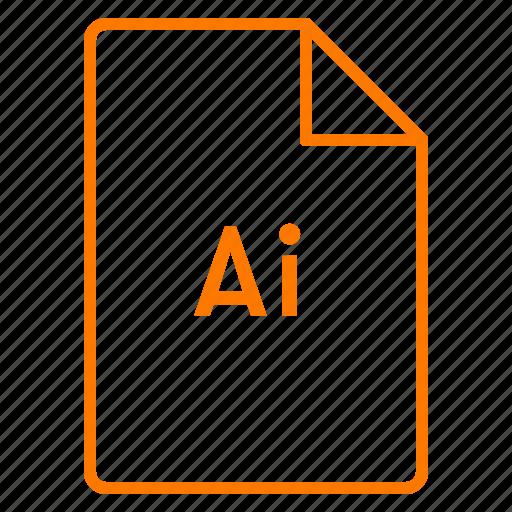 adobe, cc, coloured, file, illustrator, outline icon