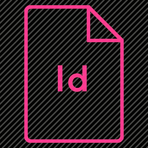 adobe, cc, coloured, file, indesign, outline icon