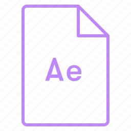 adobe, after effects, cc, coloured, file, outline icon