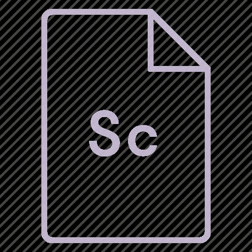 adobe, cc, coloured, file, outline, scout icon
