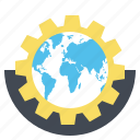 browser, gear, globe, internet, setting, web, wrench icon