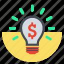 bright, money idea, bulp, idea, lamp, business idea, creative