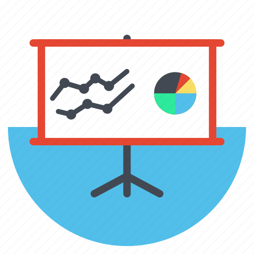 analytical report, analytics, marketing, presentation, seo, statistics, white board icon