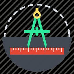 art, compass, design, draw, graphic, graphics, vector design icon