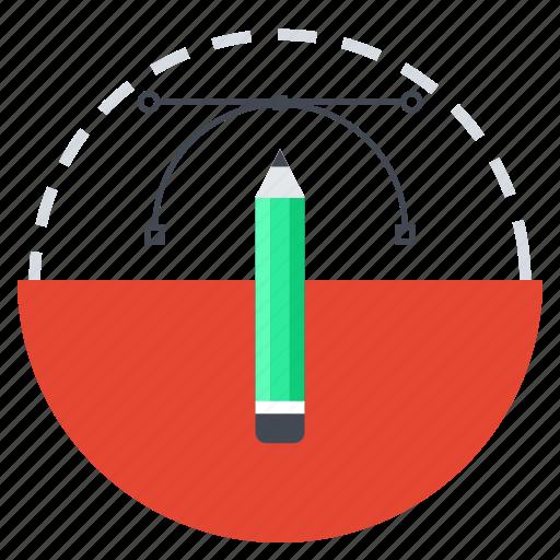 creative, creative process, design, drawing, graphic, pencil, vector design icon