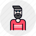 avatar, beard, designer, man, person, team, user icon