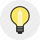 creative, idea, light, solution icon