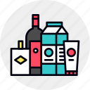 design, groceries, grocery, mockup, package, packaging icon
