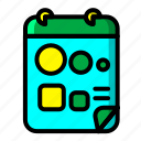 icon, color, note, paint