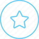 circle, circle star, creative, favourite, iconk, rating, star icon