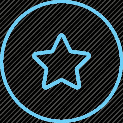 circle, circle star, creative, favourite, iconk, rating, star icon