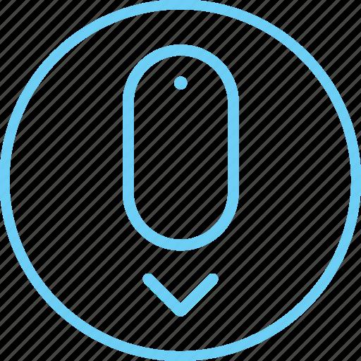 circle, creative, down, iconk, imacscroll, new, scroll icon