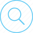circle, creative, find, iconk, search