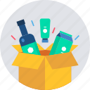 box, desk, office, stationary, stationery, work icon