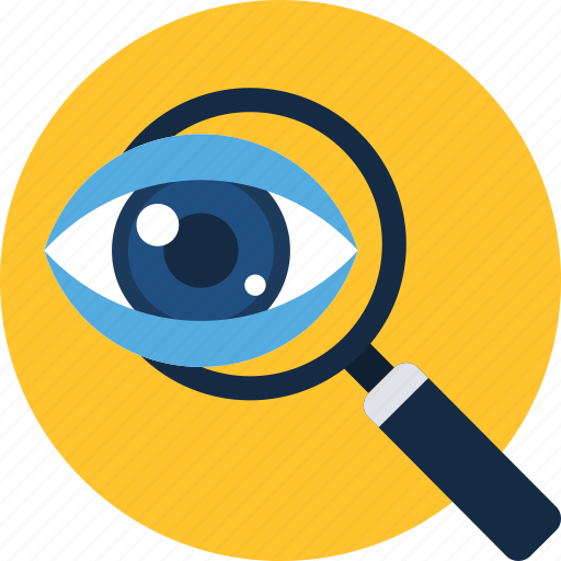 eye, find, magnifier, search, view, vision, zoom icon
