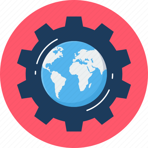 gear, global, globe, options, setting, settings icon