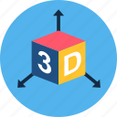 display, screen, three d icon