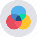 circle, creative, design, drawing, graphic, round, shape icon