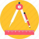 desk, draw, drawing, edit, shape, stationary, write icon