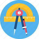 design, drawing, graphic, office, stationary, tool, work icon