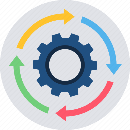 configuration, gear, preferences, process, settings, tools, workflow icon