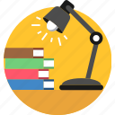 lamp, bulb, desk, electricity, energy, lighting, study icon