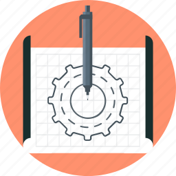 design, idea, mock up, paper, wireframe icon