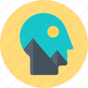 brain, creativity, head, idea icon