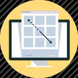 adaptive, design, internet, responsive, web, wire frame icon