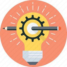 creative, design, idea, lamp, pen, pencil, solution icon