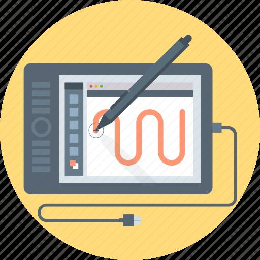 computer, design, graphics, illustration, pen, tablet icon