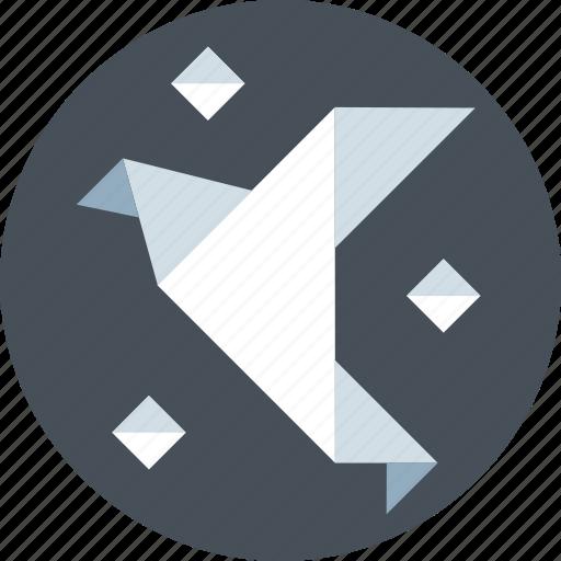 bird, design, hand made, origami, paper, skill, skills icon