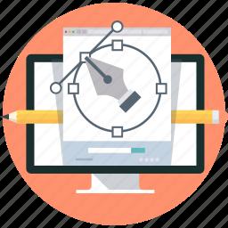 computer, creative, design, graphics, pen icon