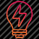 electricity, energy, idea, lightning, power