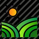 agriculture, farm, landscape, plantation icon