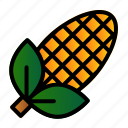 agriculture, corn, harvest, sweetcorn icon