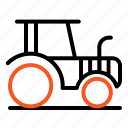 agriculture, farmer, machine, tractor icon