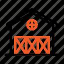 barn, building, farm, farming icon