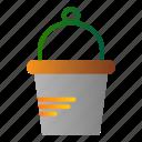 bucket, garden, tool, water