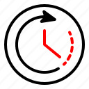 assistance, clock, passage, time icon