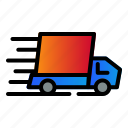 car, delivery, fast, shipping icon