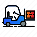 cargo, forklift, logistic, vehicle
