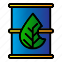 barrel, ecology, green, oil icon