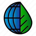 earth, ecology, environment, leaf icon