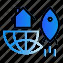 globe, investation, property, rocket icon