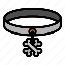 animal, collar, dog, pet, tag, track